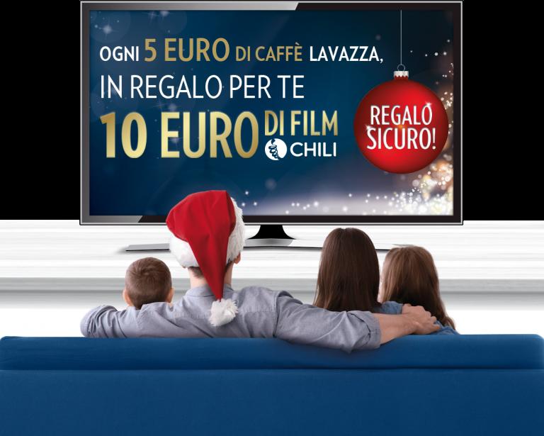 Ogni 5€ di caffè LAVAZZA ricevi 10€ di film e serieTv!