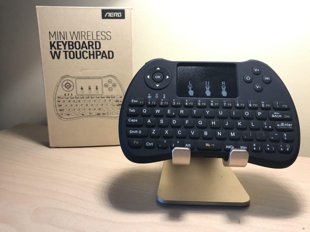 Recensione Mini Tastiera AERB Wireless 2.4Ghz con Touchpad