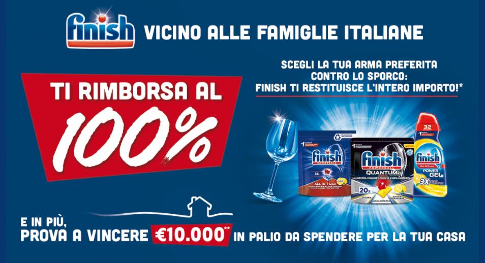 """Finish """"Vicino alle Famiglie Italiane"""" : 100% rimborsato"""