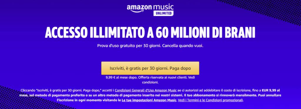 amazon music unlimited - risparmiare su Amazon