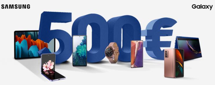 Cashback Samsung fino a 500€ di rimborso
