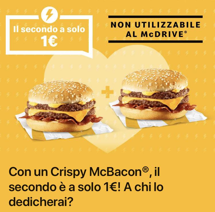 mcdonald crispy mcbacon 1€