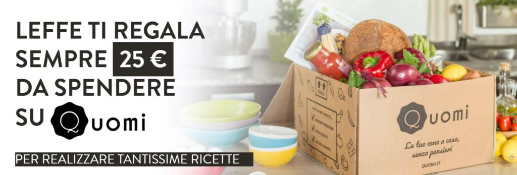 Leffe ti regala un box alimentare del valore di 25€