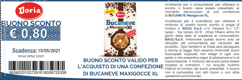 codice sconto Bucaneve MaxiGocce XL