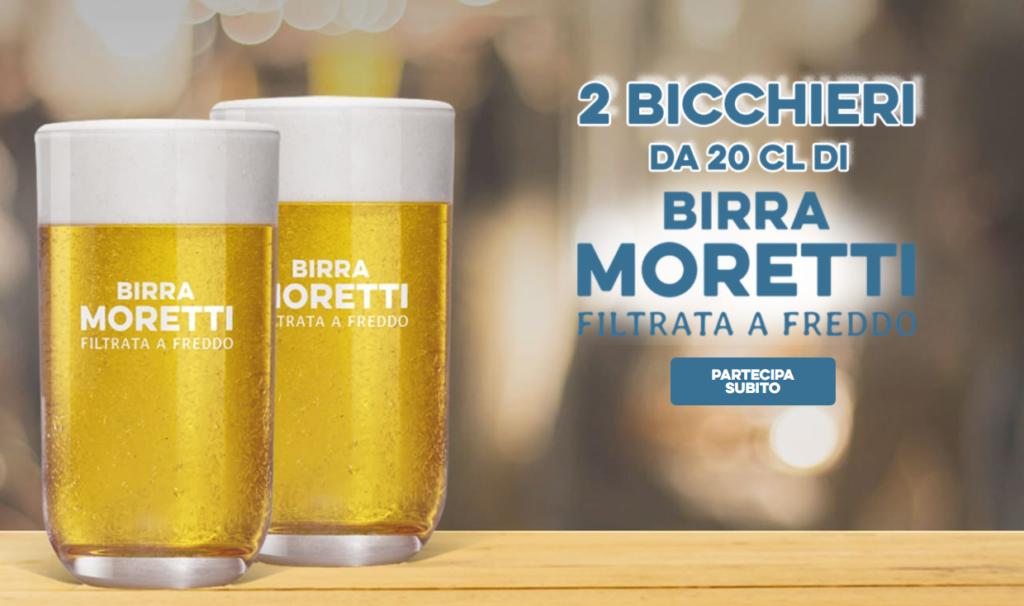 Birra Moretti ti regala 2 Bicchieri per la Filtrata a Freddo