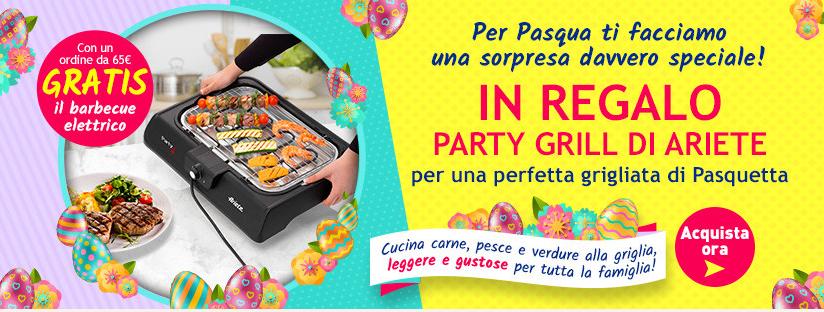 Party Grill di Ariete GRATIS grazie a Casa Henkel